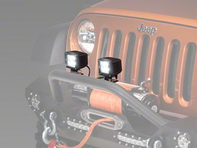 Raxiom 3 in. Square LED Light (87-19 Jeep Wrangler YJ, TJ, JK & JL)