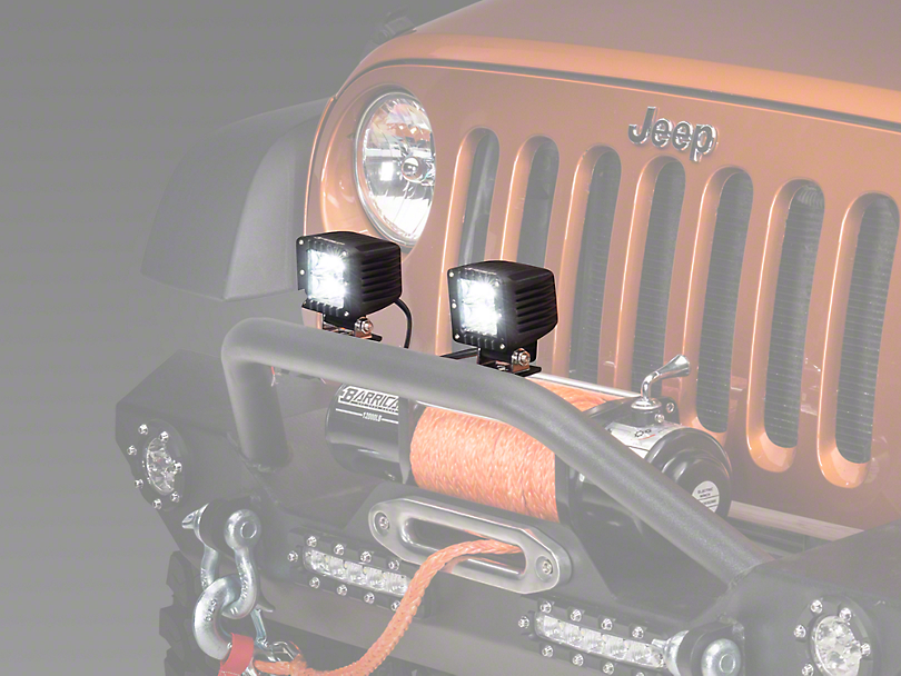 Raxiom 3 in. Square LED Light (87-18 Wrangler YJ, TJ, JK & JL)