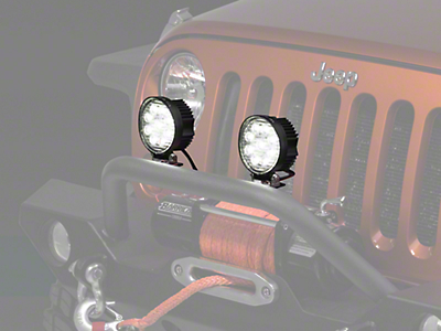 Raxiom 4.5 in. Round 9 LED Light (87-18 Wrangler YJ, TJ & JK)