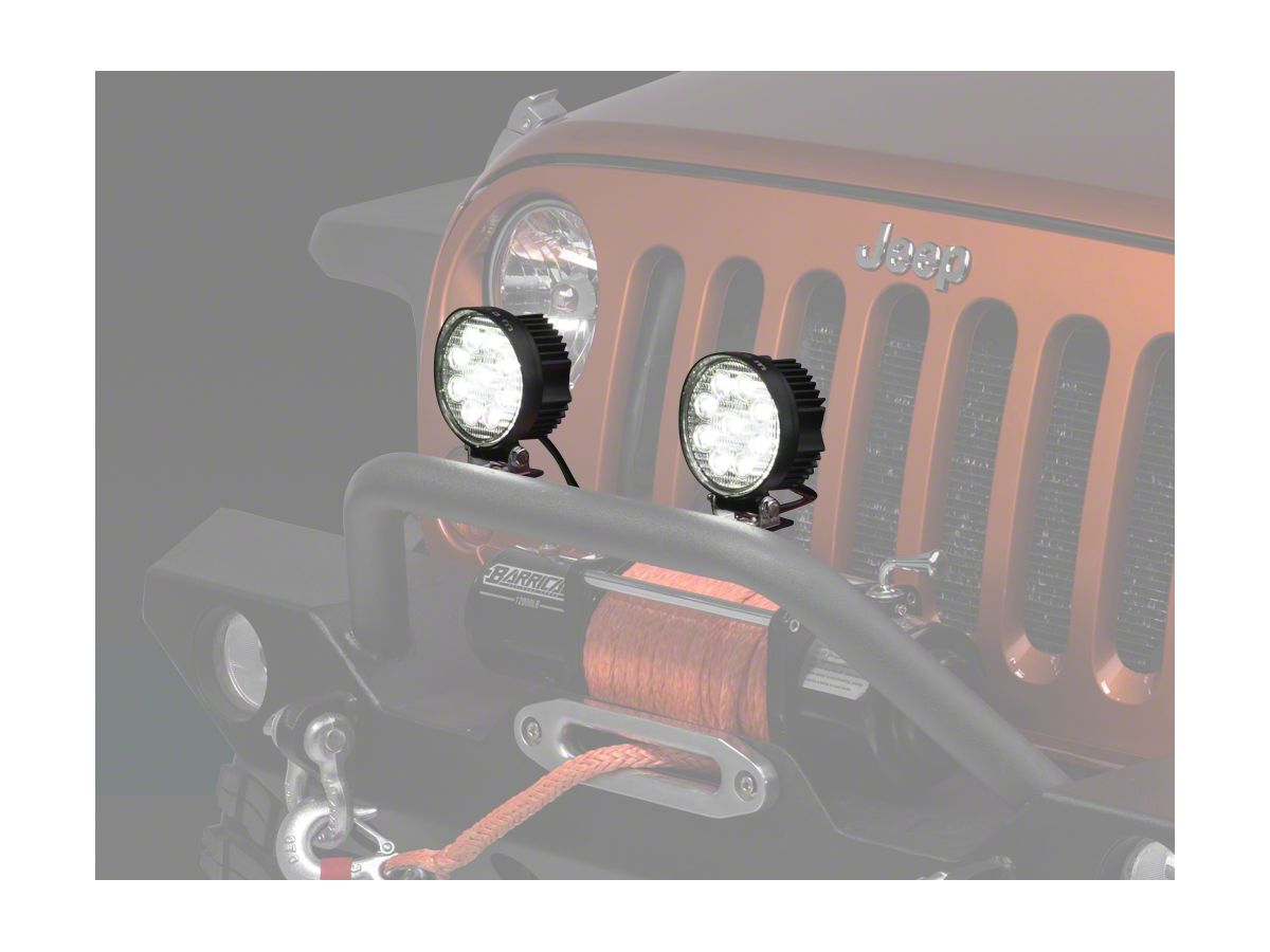 Raxiom 4.5 in. Round 9 LED Light on