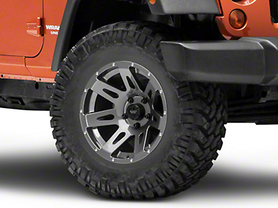 Rugged Ridge XHD Gun Metal Gray Wheel - 17X9 (07-18 Wrangler JK; 2018 Wrangler JL)
