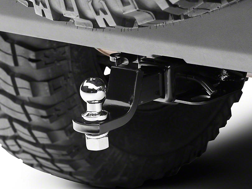 Rugged Ridge 2 in. Receiver Hitch Kit w/ 1-7/8 in. Ball (07-18 Jeep Wrangler JK)