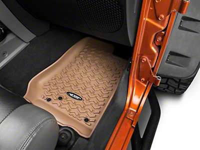 Rugged Ridge All-Terrain Floor Liners - Tan (14-18 Jeep Wrangler JK)