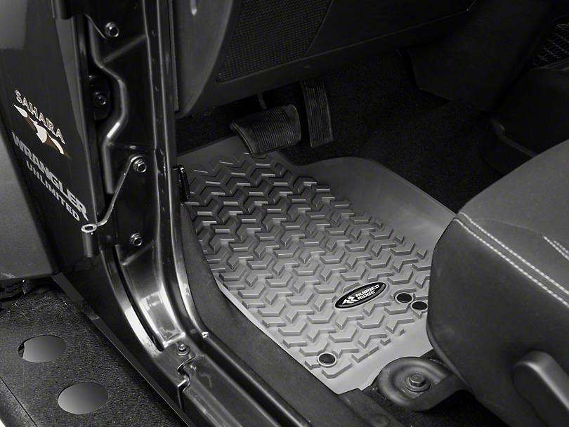 Rugged Ridge All-Terrain Floor Liners - Gray (14-18 Wrangler JK)