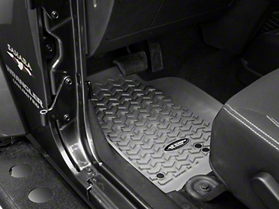 Rugged Ridge All-Terrain Floor Mats - Gray (14-18 Jeep Wrangler JK)