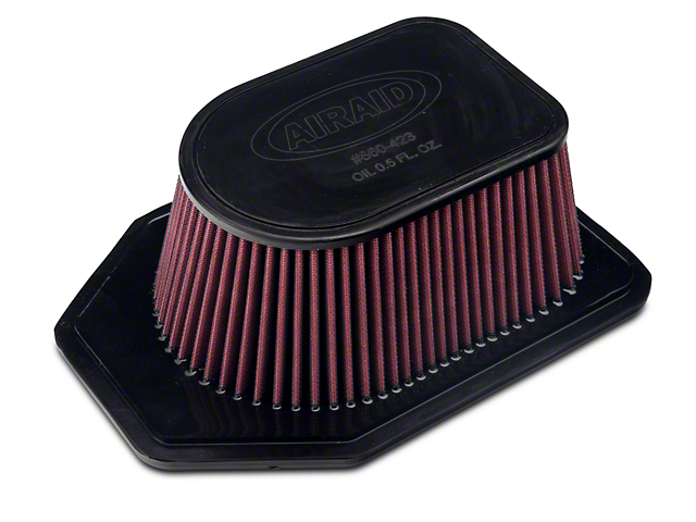 Airaid Direct Fit Replacement Air Filter; Red SynthaMax Dry Filter (07-11 3.8L Jeep Wrangler JK)