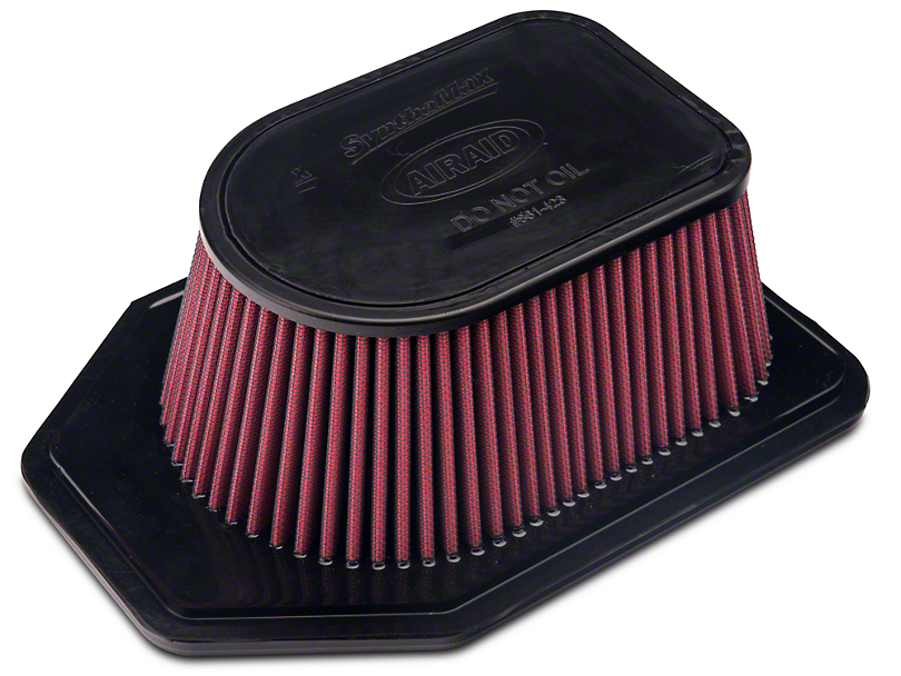 Airaid Direct Fit Replacement Air Filter; SynthaFlow Oiled Filter (07-11 3.8L Jeep Wrangler JK)