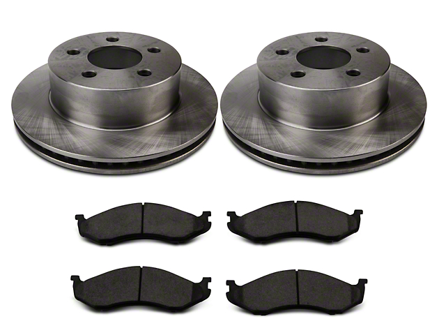 Power Stop OE Replacement Brake Rotor and Pad Kit; Front (1999 Jeep Wrangler TJ w/ 3 in. Cast Rotors; 00-06 Jeep Wrangler TJ)