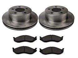 Power Stop OE Replacement Brake Rotor & Pad Kit - Front (1999 Jeep Wrangler TJ w/ 3 in. Cast Rotors; 00-06 Jeep Wrangler TJ)