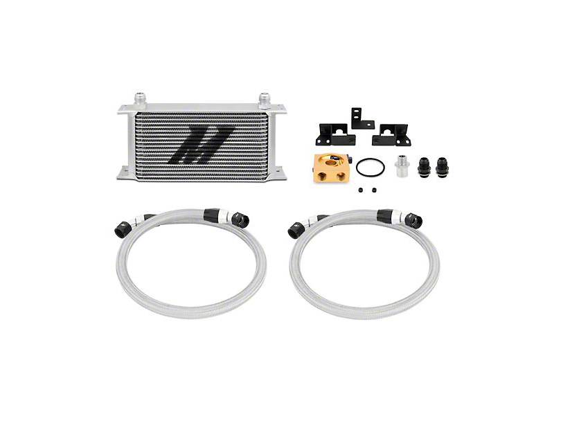Mishimoto Thermostatic Oil Cooler Kit - Silver (07-11 3.8L Wrangler JK)