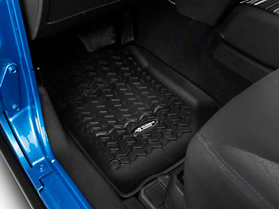 Rugged Ridge Floor Mat Kit - Black - Front & 2nd Row (14-18 Jeep Wrangler JK 2 Door)