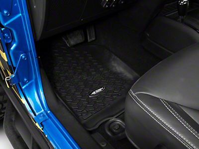 Rugged Ridge Floor Liner Kit - Black - Front & 2nd Row (14-17 Wrangler JK 4 Door)