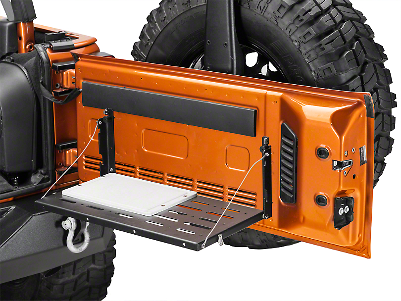 Teraflex Tailgate Table - w/ cutting board (07-18 Jeep Wrangler JK)