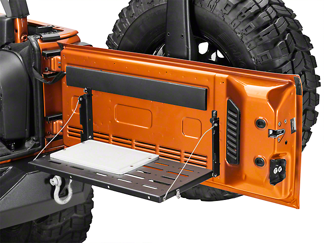 Teraflex Tailgate Table w/ Cutting Board (07-18 Jeep Wrangler JK)