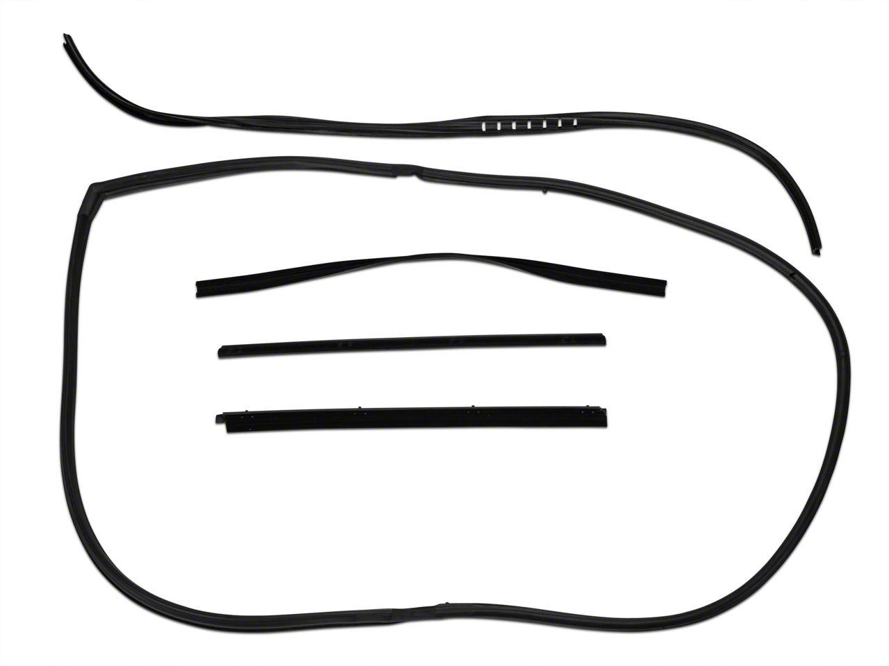 OPR Window Channel Seal Kit Driver Side w/ Movable Vent (87-95 Jeep Wrangler YJ)