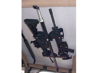 RedRock 4x4 Quick-Draw Overhead Gun Rack for Tactical Weapons (87-18 Jeep Wrangler YJ, TJ, JK & JL)