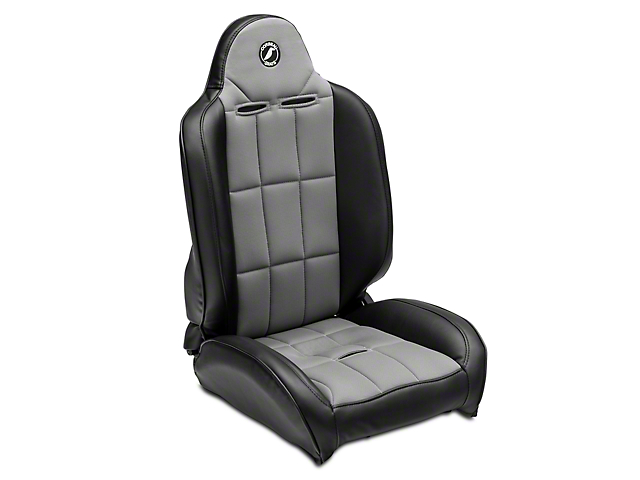 Corbeau Baja RS - Black Vinyl & Gray Cloth - Pair (87-18 Wrangler YJ, TJ, JK & JL)