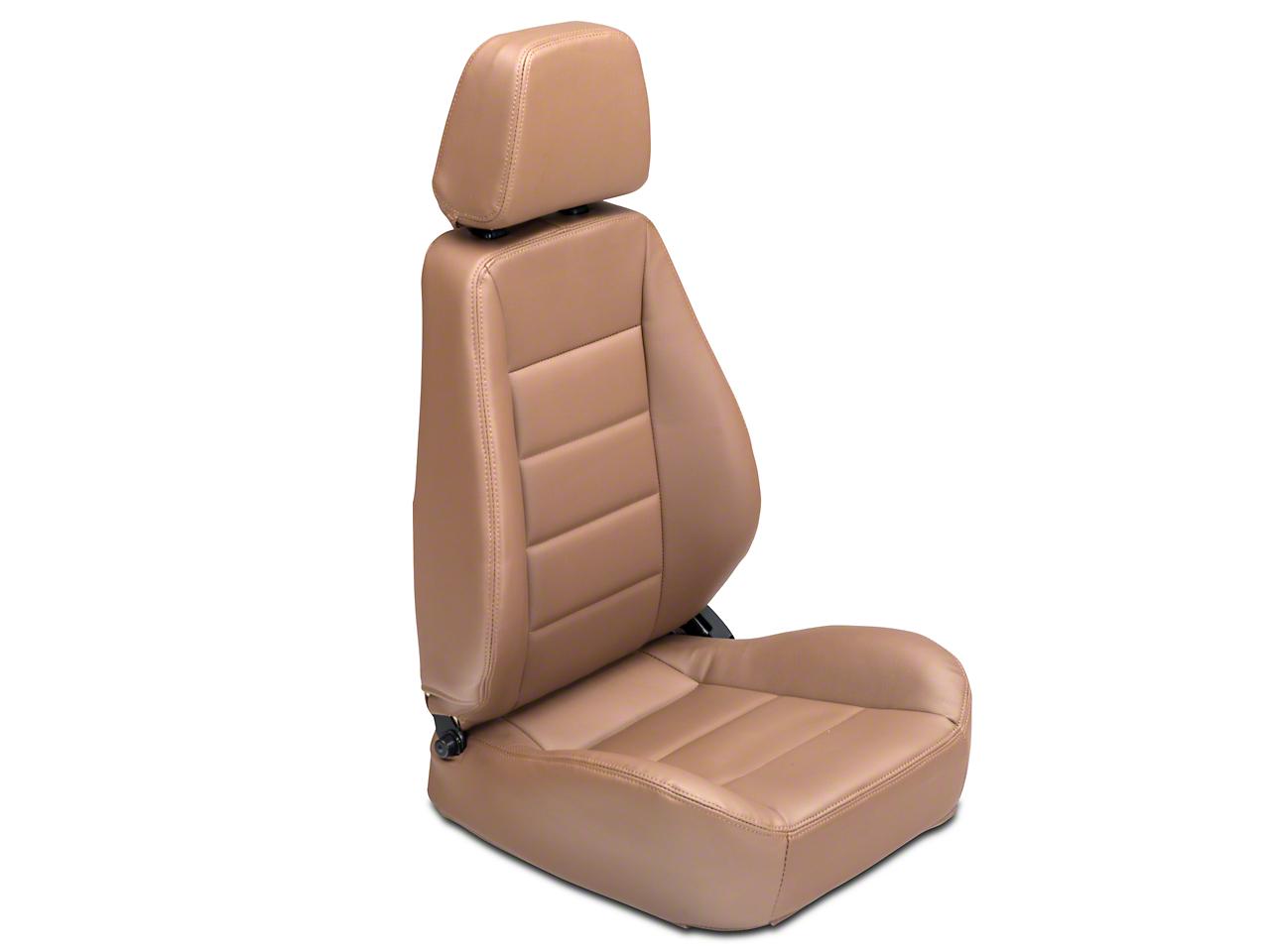 Corbeau Sport Seat - Tan Vinyl - Pair (87-17 Wrangler YJ, TJ & JK)
