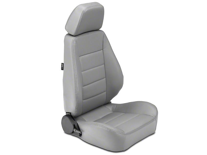 Corbeau Sport Seat - Charcoal Vinyl - Pair (87-18 Wrangler YJ, TJ, JK & JL)
