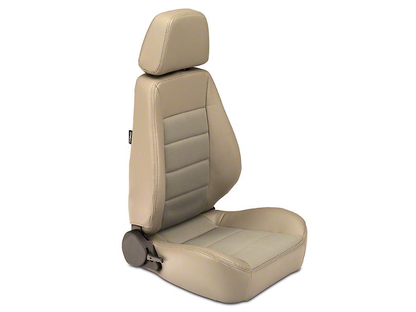 Corbeau Sport Seat - Charcoal Vinyl/Cloth - Pair (87-20 Jeep Wrangler YJ, TJ, JK & JL)