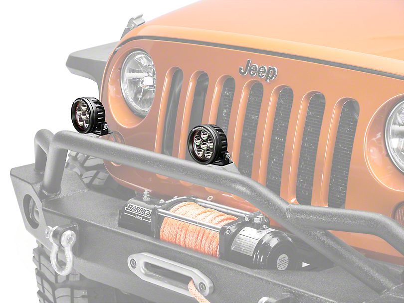 Rugged Ridge 3.5 in. Round LED Light - Driving Beam (87-18 Wrangler YJ, TJ & JK)