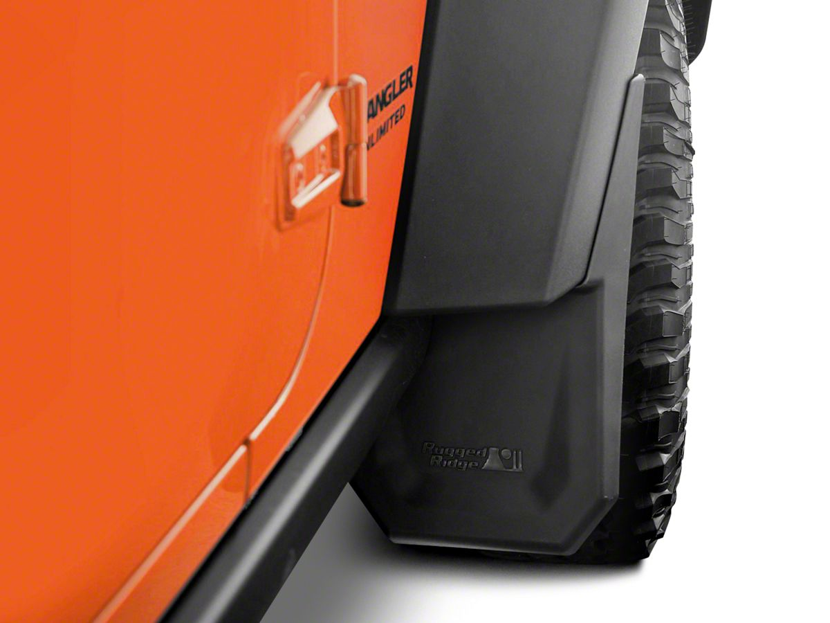 Splash Guard Car >> Rugged Ridge Splash Guard Kit Front 07 18 Jeep Wrangler Jk