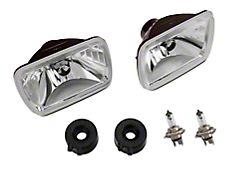 H4 Headlight Conversion Kit; Chrome Housing; Clear Lens (87-95 Jeep Wrangler YJ)