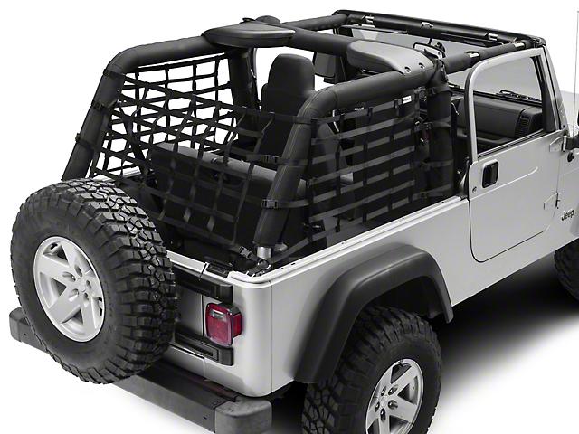 RedRock 4x4 Cargo Wrap Around Net; One Piece (04-06 Jeep Wrangler TJ Unlimited)
