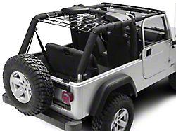 PrimalTech Rear Overhead Net (04-06 Jeep Wrangler TJ Unlimited)