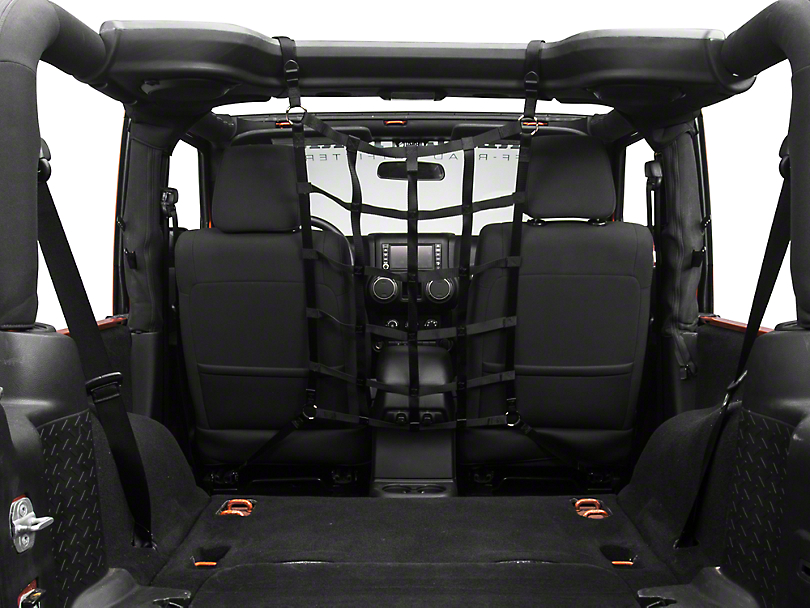 TruShield Front Pet Barrier Net - Black (07-18 Jeep Wrangler JK 2 Door)