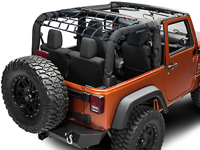 TruShield Rear Overhead Net (07-18 Wrangler JK 2 Door)