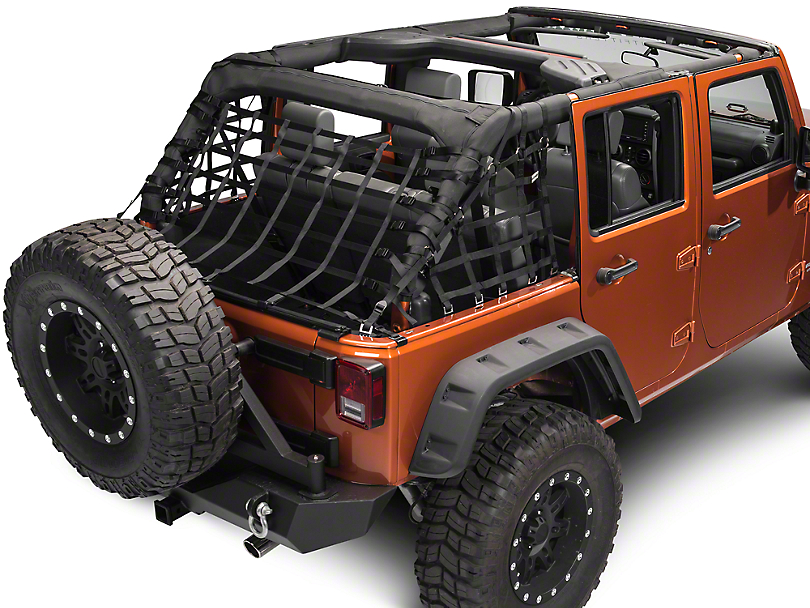 TruShield Cargo Wrap Around Net   Three Piece (07 18 Jeep Wrangler JK 4