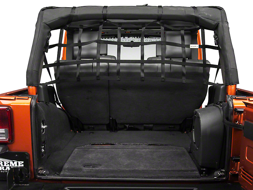 TruShield Rear Pet Barrier Net - Black (07-18 Jeep Wrangler JK 4 Door)