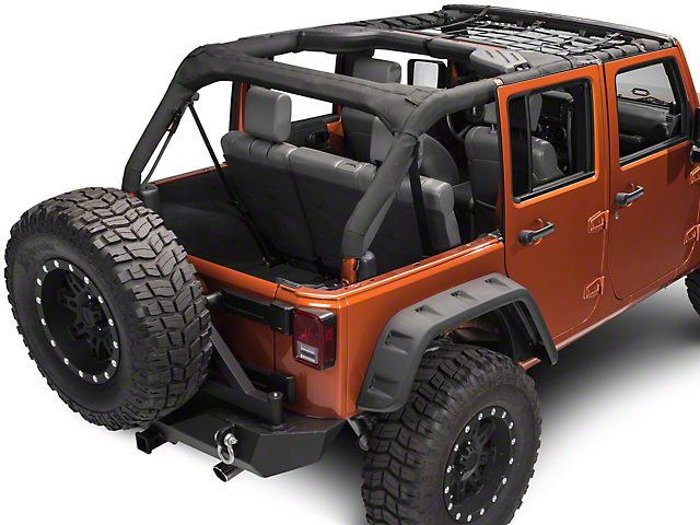 RedRock 4x4 Front Overhead Net (07-18 Jeep Wrangler JK 4 Door)