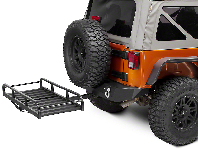 RedRock 4x4 Hitch Mounted Cargo Rack - 7 in. XL (87-18 Jeep Wrangler YJ, TJ, JK & JL)
