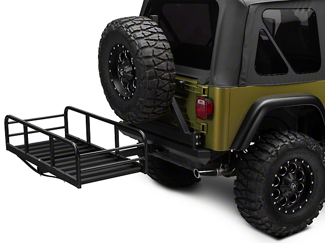 RedRock 4x4 Hitch Mounted Cargo Rack; 12-Inch XL (87-06 Jeep Wrangler YJ & TJ)