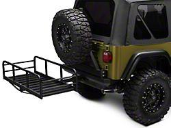 RedRock 4x4 Hitch Mounted Cargo Rack 12 in. XL (87-06 Jeep Wrangler YJ & TJ)