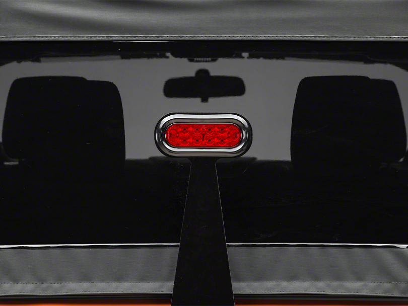 GraBars Fixed Third Brake Light Bracket w/ LED Light (87-18 Wrangler YJ, TJ & JK)