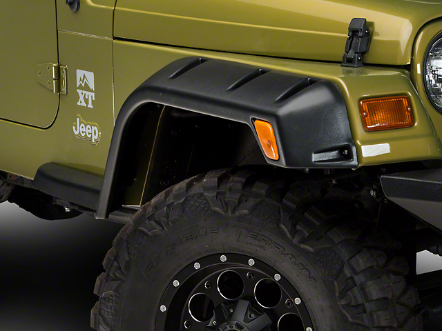 Lund Fender Flares RX; Rivet Style 4PC (97-06 Jeep Wrangler TJ)
