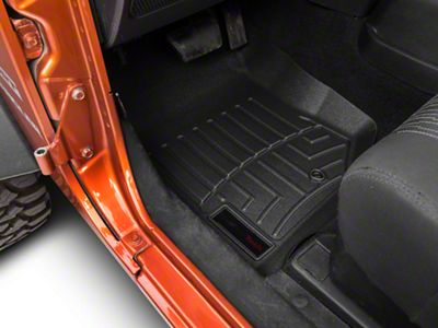 Weathertech DigitalFit Front Floor Mat - Black (07-13 Jeep Wrangler JK)