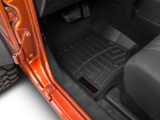 Weathertech DigitalFit Front Floor Liner - Black (07-13 Jeep Wrangler JK)