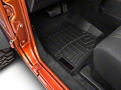 Weathertech DigitalFit Front Floor Liners; Black (07-13 Jeep Wrangler JK)