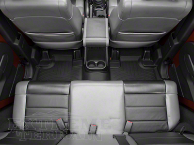 Weathertech DigitalFit Rear Floor Liner - Black (07-13 Wrangler JK 4 Door)