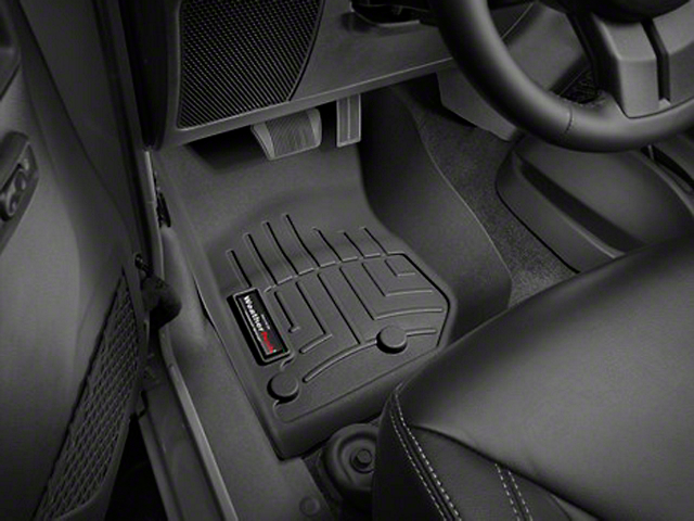 Weathertech DigitalFit Front Floor Mat - Black (14-18 Jeep Wrangler JK)