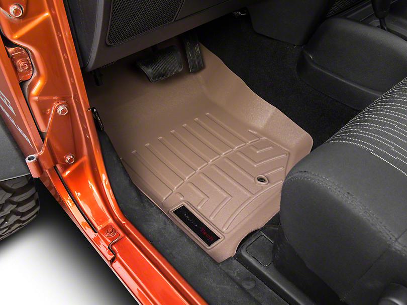 Weathertech DigitalFit Front Floor Mat - Tan (07-13 Jeep Wrangler JK)