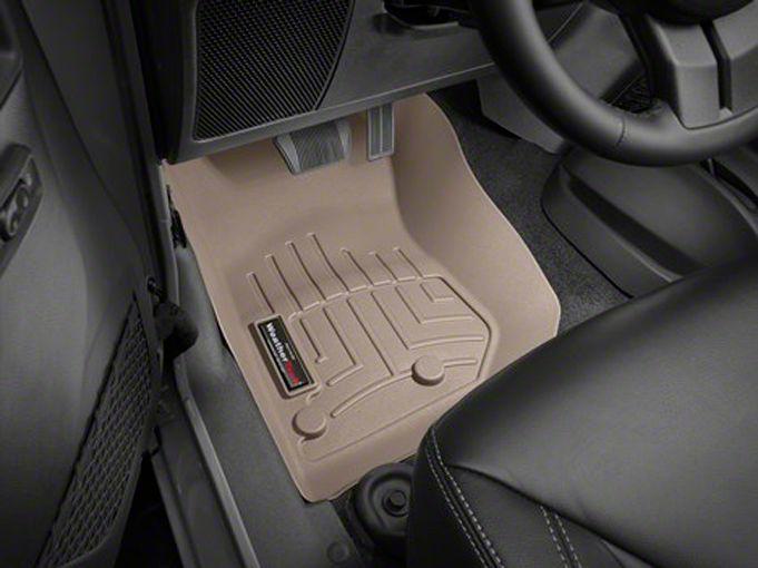 Weathertech DigitalFit Front Floor Liner - Tan (14-18 Jeep Wrangler JK)