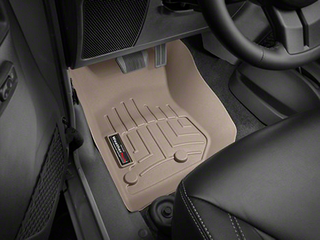 Weathertech DigitalFit Front Floor Liners; Tan (14-18 Jeep Wrangler JK)