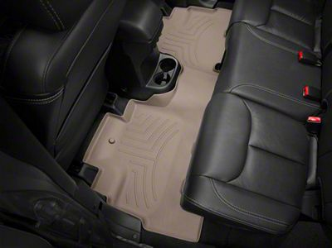 Weathertech DigitalFit Rear Floor Mat - Tan (14-18 Jeep Wrangler JK 4 Door)