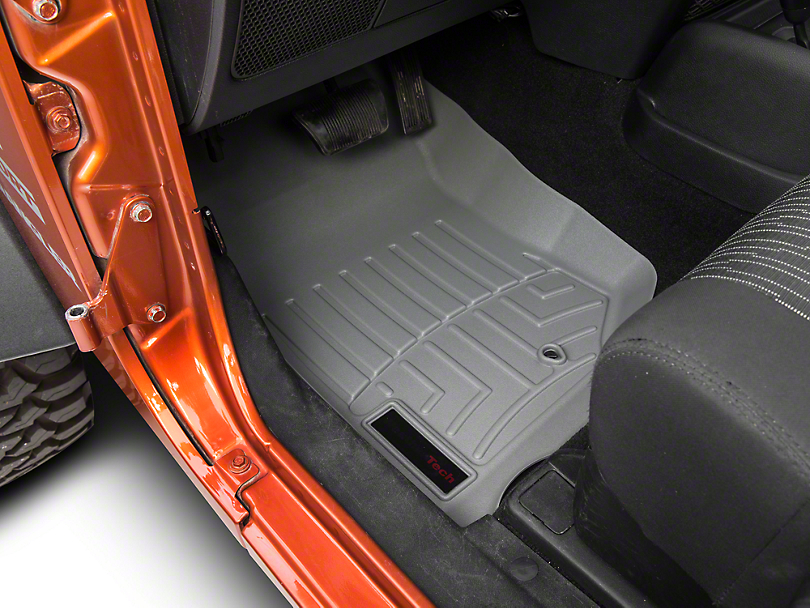 Weathertech DigitalFit Front Floor Liner - Gray (07-13 Jeep Wrangler JK)