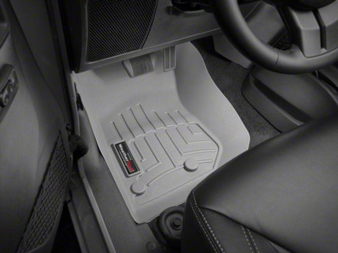 Weathertech DigitalFit Front Floor Liner - Gray (14-18 Jeep Wrangler JK)